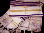 purple gold tallit